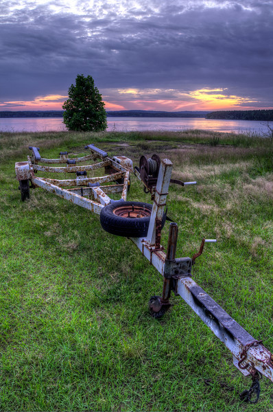 Boat Trailer, Lake Jordan
