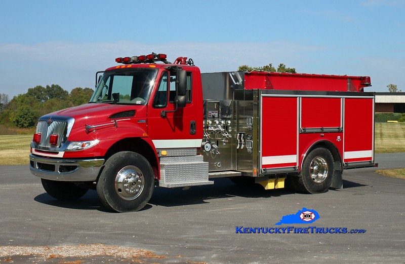<center> Aleris Rolled Products  Engine 1 <br> 2011 International 4400/HME Ahrens Fox 1250/1000 <br> Kent Parrish photo </center>