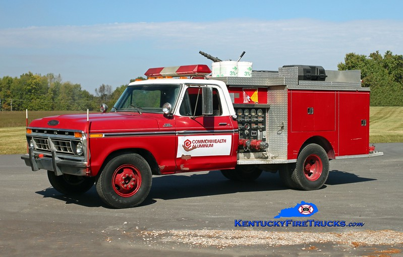 <center> Aleris Rolled Products  Engine 2 <br> 1977 Ford F-350/Pierce 250/250 <br> Kent Parrish photo </center>