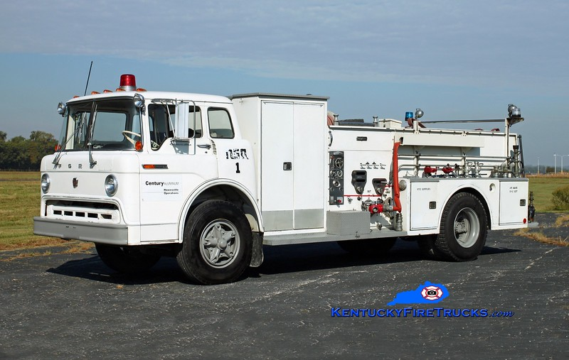 <center> Century Aluminum Engine 1 <br> 1968 Ford C-800/Ward LaFrance 750/500/500#ABC  <br> Kent Parrish photo </center>