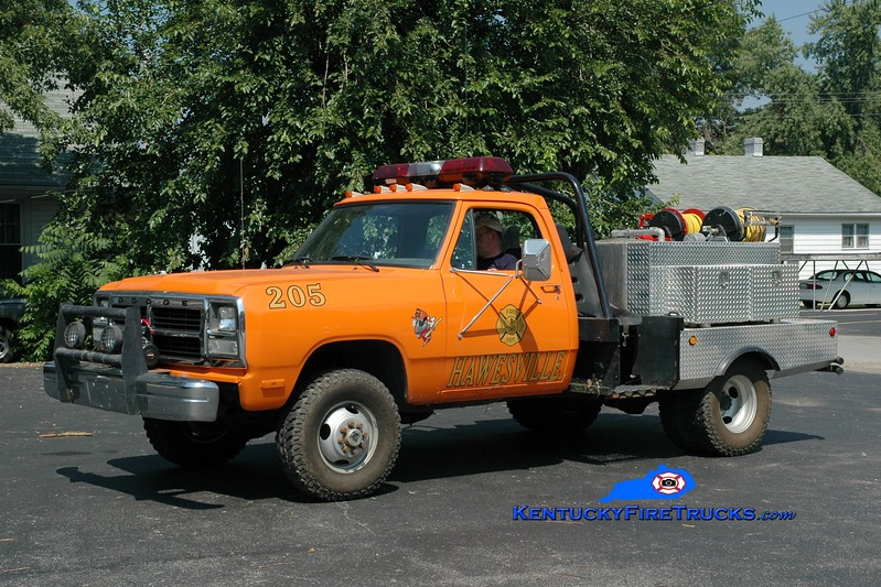 <center> Hawesville Brush 205  <br> 1992 Dodge W200 4x4/FD 50/200 <br> Greg Stapleton photo </center>