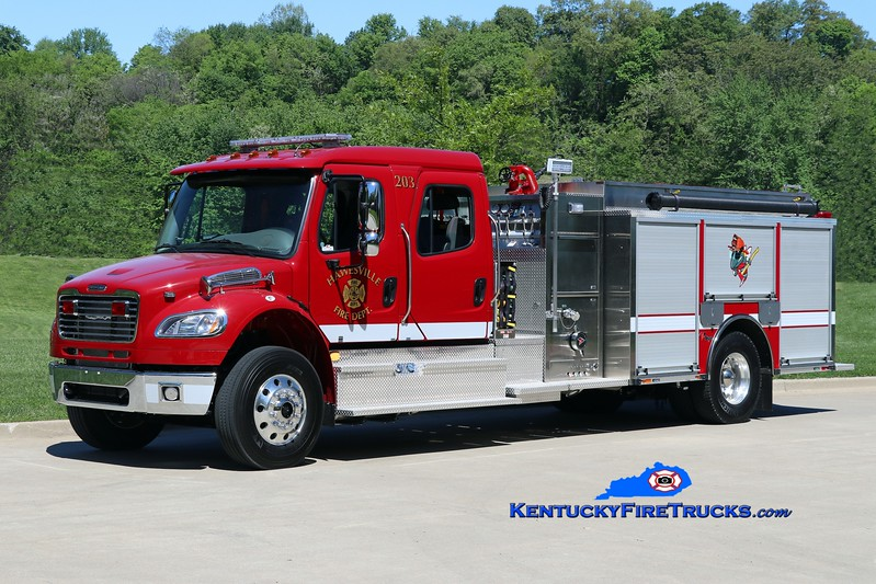 Hawesville  Engine 203<br /> 2017 Freightliner M2-106/Toyne 1250/1250<br /> Kent Parrish photo