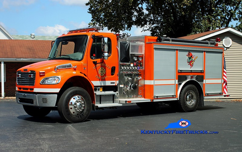 <center> Hawesville  Engine 201  <br> 2008 Freightliner M2/E-One 1250/1000 <br> Kent Parrish photo </center>