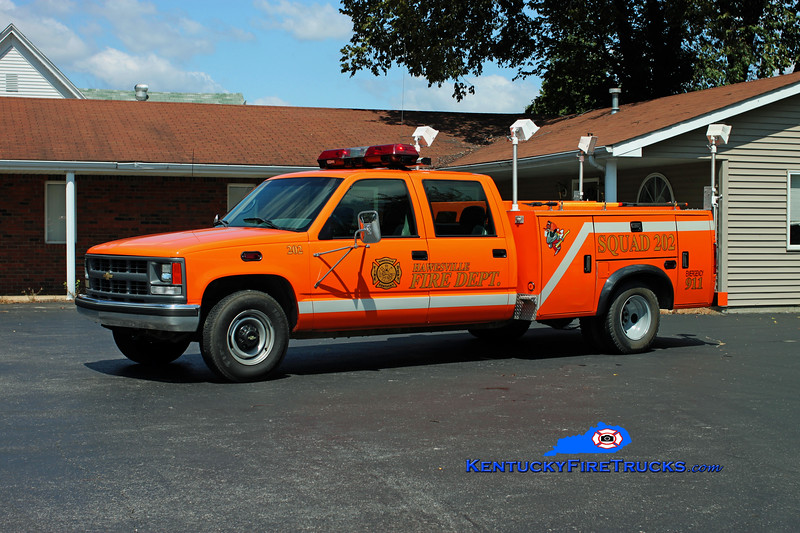 <center> Hawesville  Squad 202  <br> 1999 Chevy 2500/Stahl <br> Kent Parrish photo </center>
