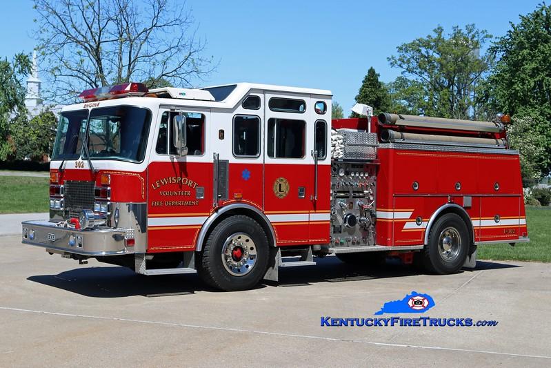 Lewisport  Engine 302<br /> x-Thiells, NY<br /> 1995 KME Renegade 1250/1000<br /> Kent Parrish photo