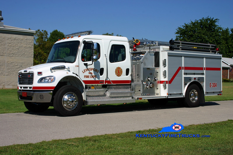 <center> Lewisport  Engine 304 <br> 2008 Freightliner M2-106/E-One 1250/1000/30 <br> Kent Parrish photo </center>