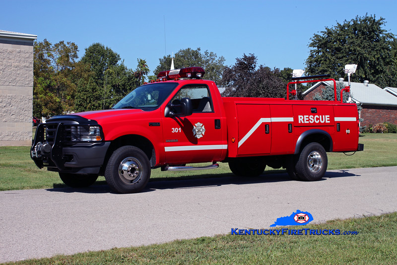 <center> RETIRED <br> Lewisport  Rescue 301 <br> 2003 Ford F-350 4x4/Stahl  <br> Kent Parrish photo </center>