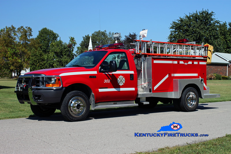 <center> Lewisport  Truck 302 <br> 2000 Ford F-450 4x4/1973 Local 250/400 <br> Kent Parrish photo </center>