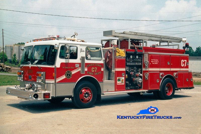 <center> RETIRED <br> Central Hardin  Engine 7 <br> x-Okolona, KY <br> 1986 Pemfab/American Eagle/1977 Ward LaFrance 1250/750 <br> Greg Stapleton photo </center>