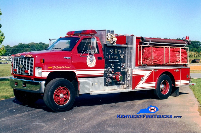<center> Central Hardin  Engine 1032<br> 1991 Chevy Kodiak/Grumman 1000/1200 <br> Greg Stapleton photo </center>