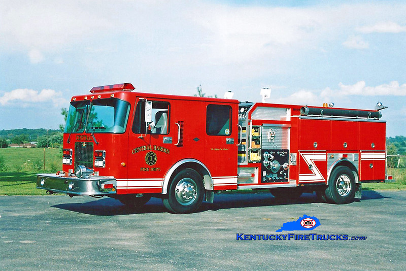 <center> Central Hardin  Engine 1031<br> 1997 Spartan Advantage/Ferrara 1250/750<br> Kent Parrish photo </center>
