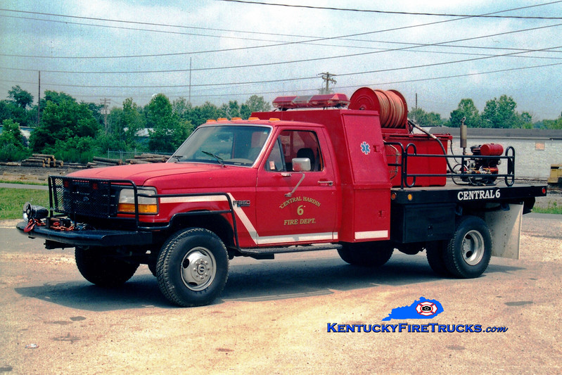 <center> RETIRED <br> Central Hardin  Brush 1076 <br> 1992 Ford F-350 4x4/Bluegrass 50/200 <br> Greg Stapleton photo </center>