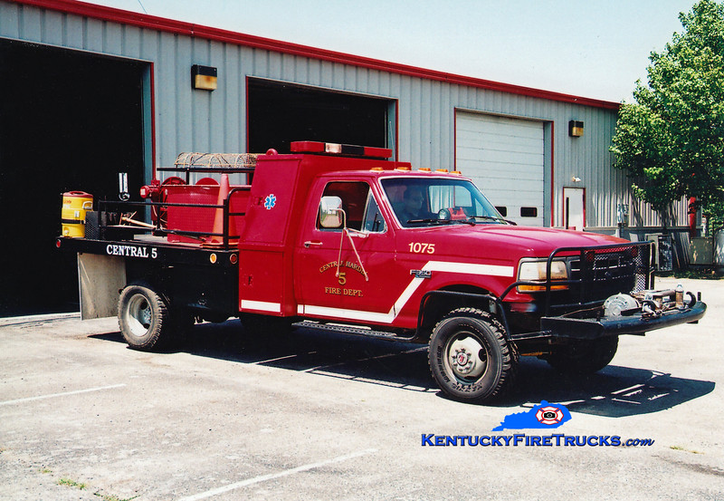 <center> RETIRED <br> Central Hardin  Brush 1075 <br> 1992 Ford F-350 4x4/Bluegrass 50/200 <br> Greg Stapleton photo </center>