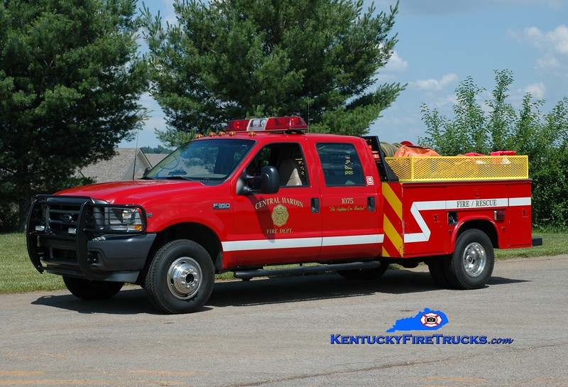 <center> Central Hardin  Brush 1075 <br> 2002 Ford F-350 4x4/Local 50/100 <br> Greg Stapleton photo </center>