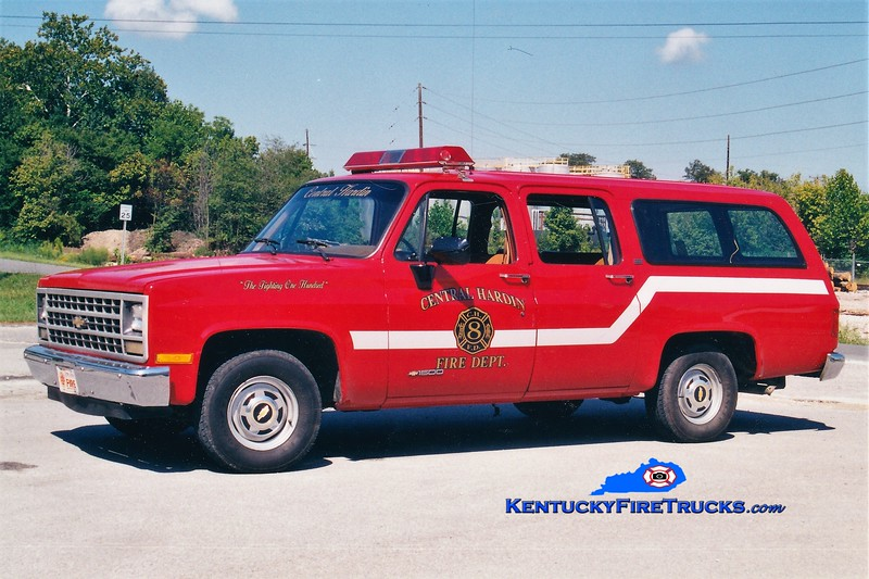 RETIRED<br /> Central Hardison  Squad 8<br /> 1990 Chevy Suburban<br /> Greg Stapleton photo