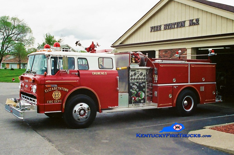 RETIRED <br /> Elizabethtown Engine 5 <br /> 1986 Ford C-8000/Grumman 1000/500 <br /> Greg Stapleton photo