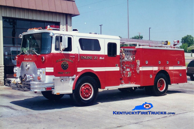 RETIRED <br /> Elizabethtown Engine 20<br /> x-Engine 1 <br /> 1979 Mack CF/1996 Summit 1500/500 <br /> Greg Stapleton photo