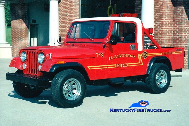 <center> RETIRED <br> Elizabethtown  Brush 3 <br> 1984 Jeep 4x4 25/50  <br> Greg Stapleton photo </center>