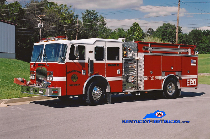 <center> RESERVE <br> Elizabethtown  Engine 20 <br> 1999 KME Excel 1500/1000/50 <br> Kent Parrish photo </center>