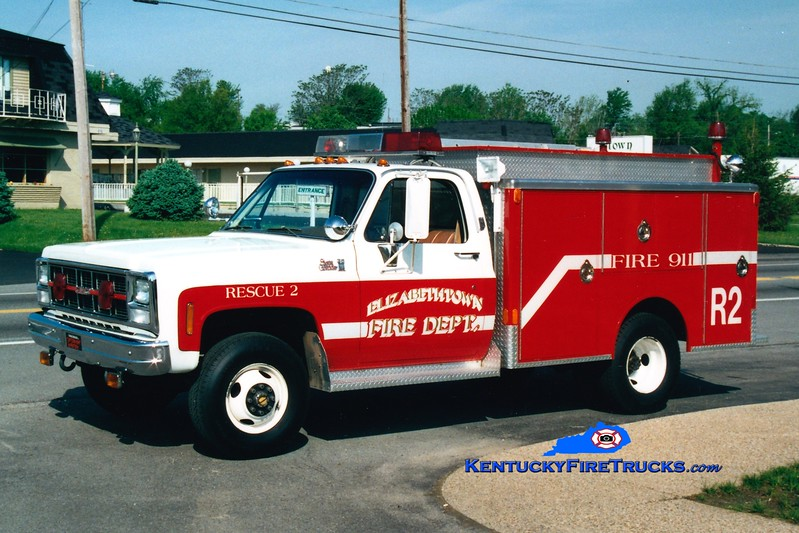 <center> RETIRED <br> Elizabethtown  Rescue 2 <br> 1978 Chevy 4x4/Indiana  <br> Greg Stapleton photo </center>