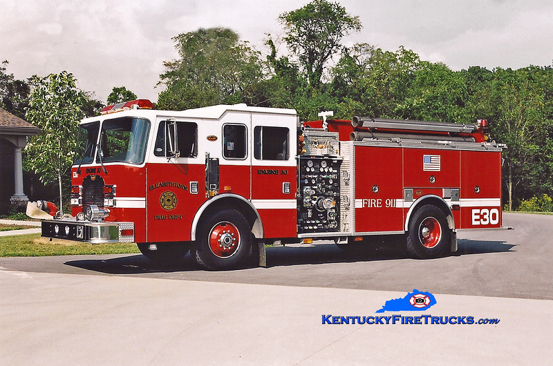 <center> Elizabethtown  Engine 2030 <br> 1998 KME Excel 1500/1000/50 <br> Kent Parrish photo </center>