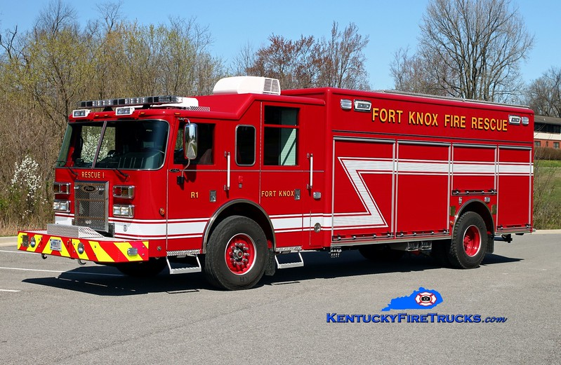 Fort Knox  Rescue 1<br /> 2015 Pierce Saber<br /> Kent Parrish photo