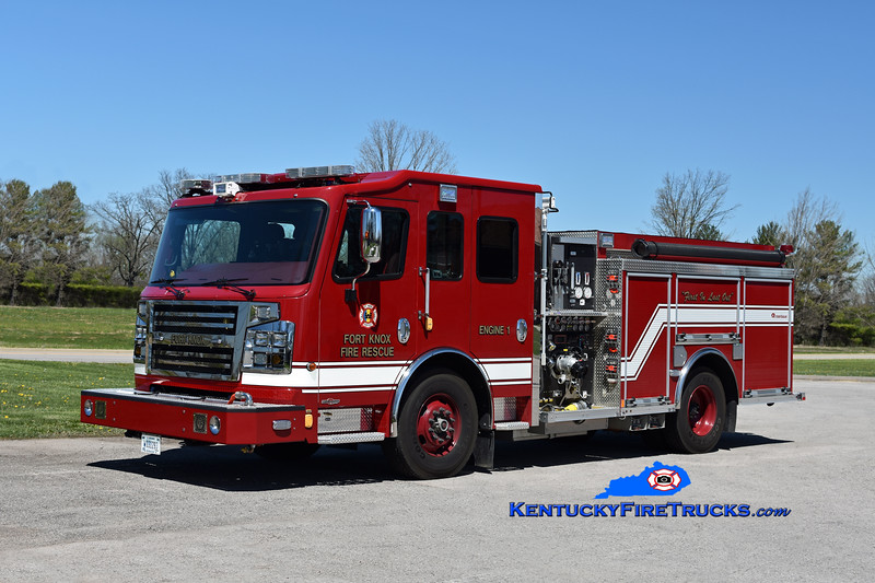 Fort Knox  Engine 1<br /> 2017 Rosenbauer Commander 1500/500/30<br /> Kent Parrish photo