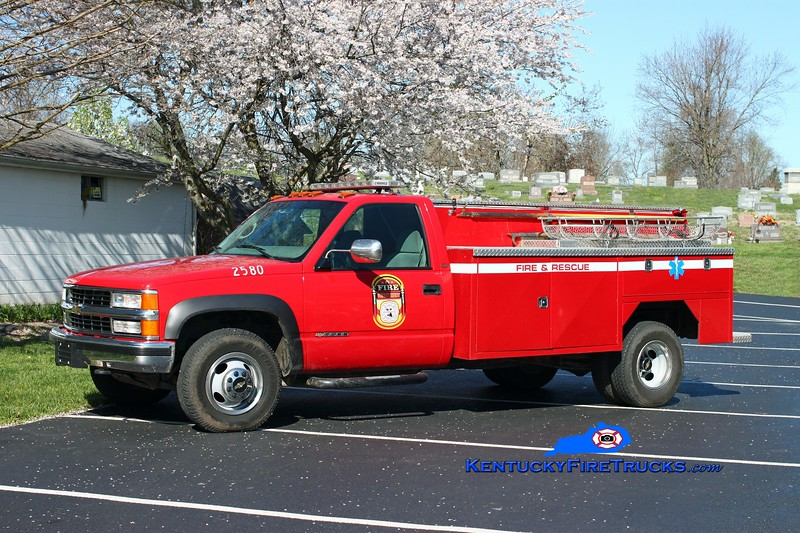 <center> RETIRED <br> Glendale  Utility 2580  <br> 1997 Chevy 3500/GFD  <br> Kent Parrish photo <br> </center>