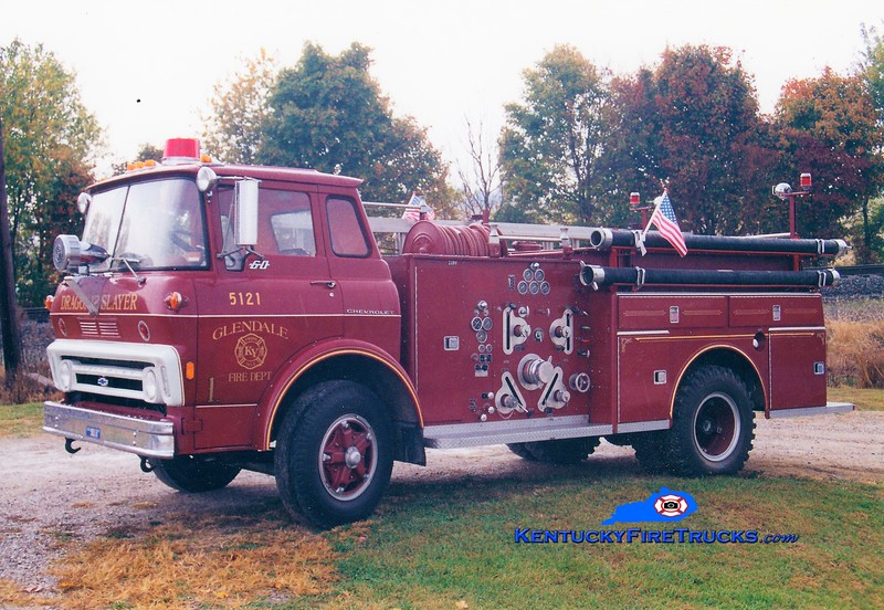 RETIRED<br /> Glendale  Engine 5121<br /> 1973 Chevy/American LaFrance 750/750<br /> Greg Stapleton photo