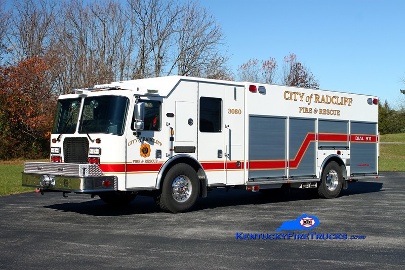 <center> Radcliff  Rescue 3080 <br> 2013 KME Predator SS 1500/750 <br> Kent Parrish photo </center>