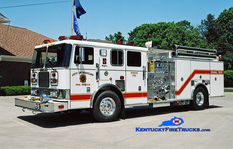 <center> Radcliff  Engine 2 <br> 2004 Seagrave Marauder  1500/1000 <br> Kent Parrish photo </center>