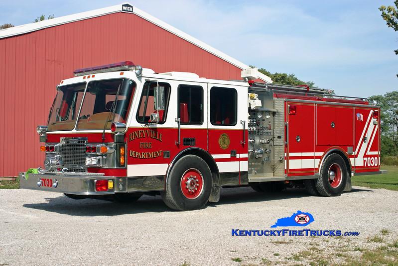 <center> Rineyville  Engine 7030 <br> x-Bel Air, MD <br> 1993 Simon-Duplex/Saulsbury 1500/750/50 <br> Kent Parrish photo </center>