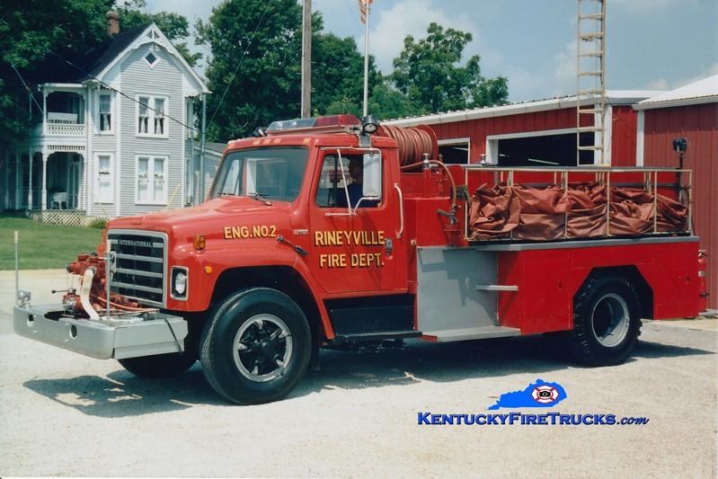 <center> RETIRED <br> Rineyville  Engine 2 <br> 1979 International/Bluegrass 500/1000 <br> Greg Stapleton photo </center>