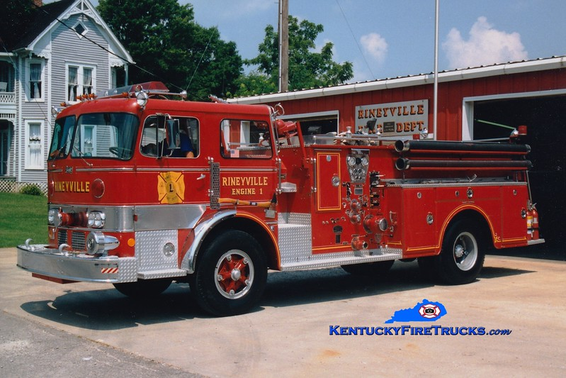 <center> RETIRED <br> Rineyville  Engine 1 <br> x-Cherry Hill, NJ <br> 1967 Duplex/Oren 1000/750 <br> Greg Stapleton photo </center>