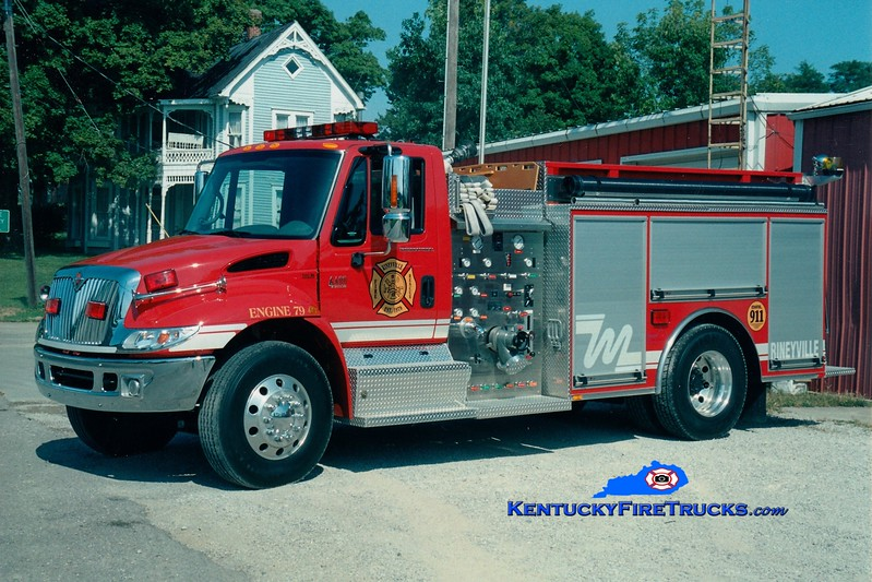 <center> Rineyville  Engine 79 <br> 2004 International 4400/Bluegrass 1250/1000 <br> Greg Stapleton photo </center>
