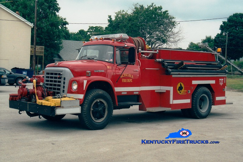 <center> RETIRED <br> Sonora  Engine 1 <br> 1978 International/Local 500/1200 <br> Greg Stapleton photo </center>