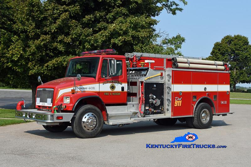Stephensburg Engine 9031<br /> x-Madison Twp Wyatt, IN <br /> 2001 Freightliner FL80 1500/1250<br /> Kent Parrish photo