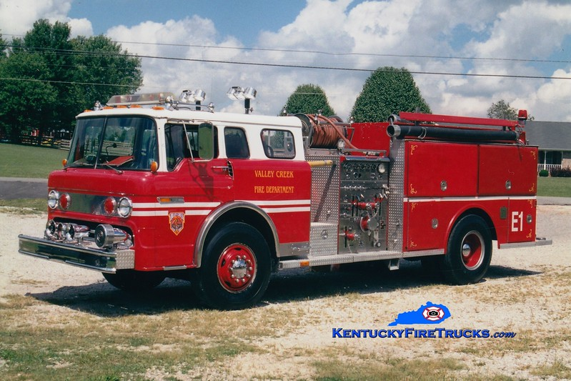 <center> RETIRED <br> Valley Creek Engine 1 <br> x-Lutz, NC <br> 1981 Ford C/Atlas 1000/1000 <br> Greg Stapleton photo </center>