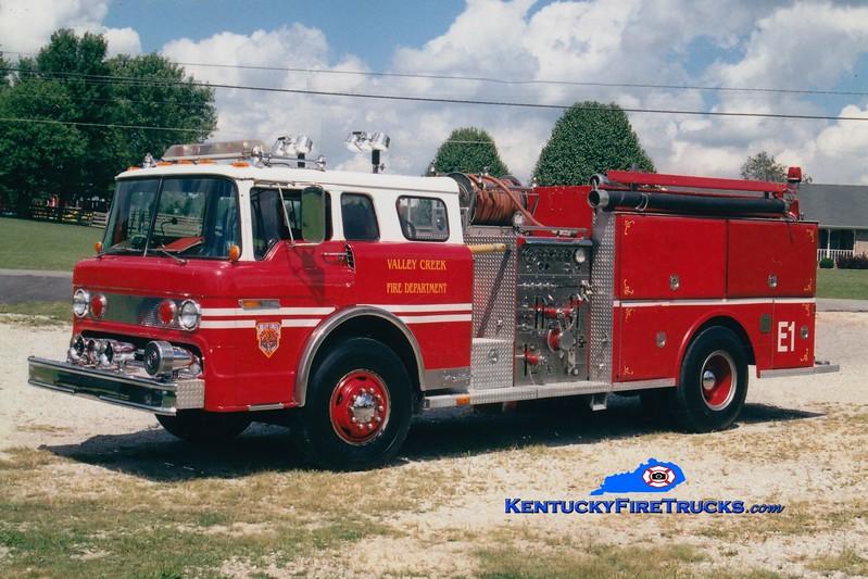 <center> RETIRED <br> Valley Creek Engine 1 <br> x-Lutz, NC <br> 1981 Ford C/Atlas 1000/1000 <br> Greg Stapleton photo </center>