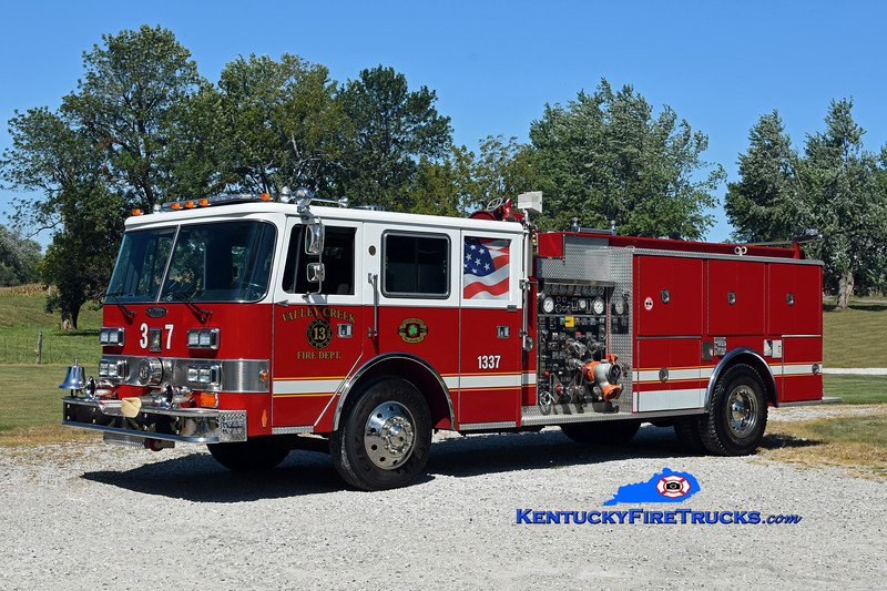 RETIRED <br /> Valley Creek  Engine 1337<br /> x-Camp Taylor & Magnolia, KY<br /> 1988 Pierce Arrow/1978 Duplex-Oren 1250/750<br /> Kent Parrish photo