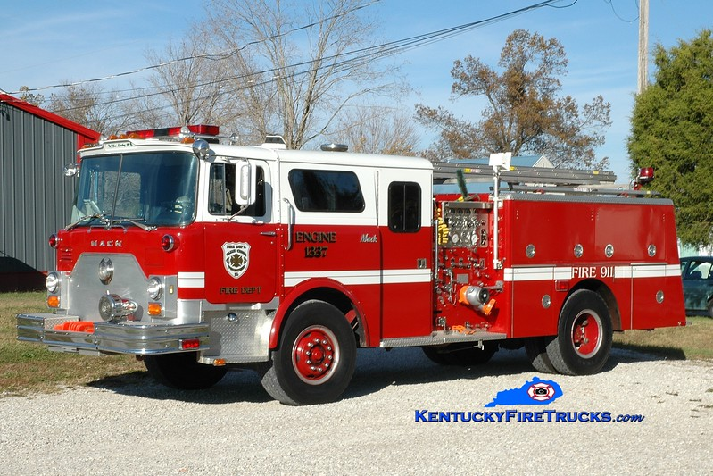 <center> RETIRED <br> Valley Creek  Engine 1337 <br> x-Elizabethtown, KY <br> 1979 Mack CF/1996 Summit 1500/500 <br> Greg Stapleton photo </center>