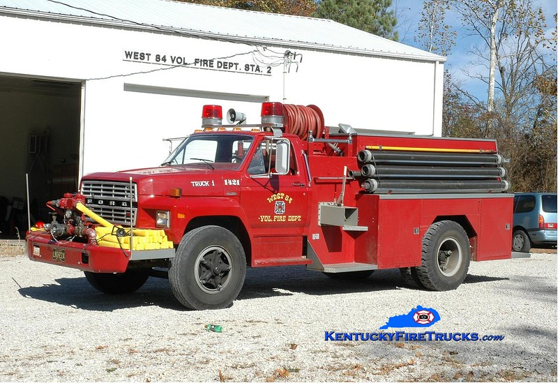 <center> West 84  Engine 1421 <br> 1980 Ford/Bluegrass 500/1500  <br> Greg Stapleton photo </center>