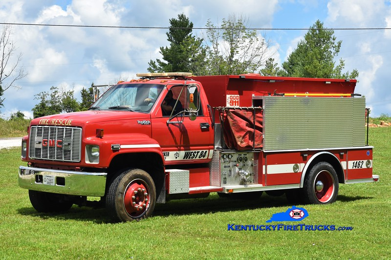 West 84 Tanker 1462 <br /> x-Sandhill, SC <br /> 1990 GMC Top Kick/Carolina Firemasters 350/1500<br /> Greg Stapleton photo