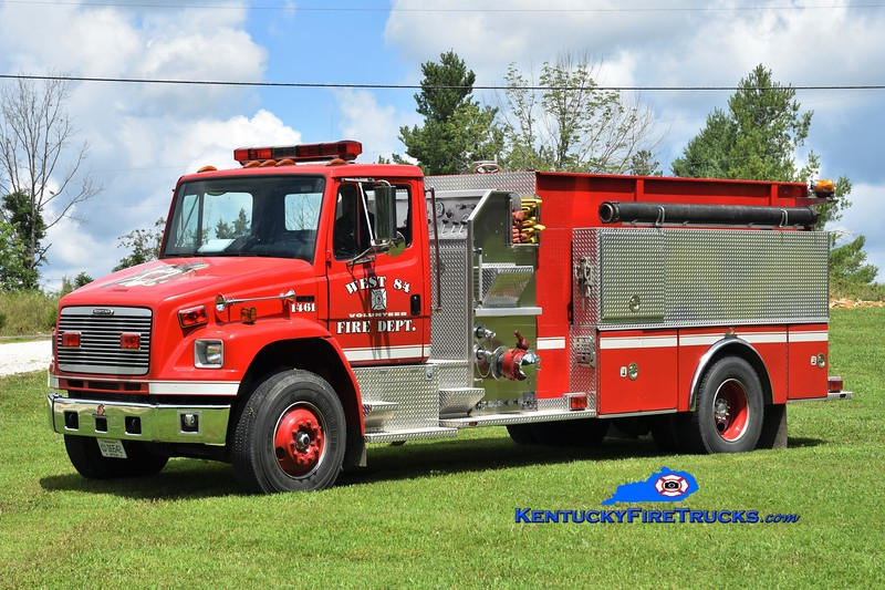 West 84  Engine-Tank 1461 <br /> 1998 Freightliner FL80/Ferrara 1250/1500<br /> Greg Stapleton photo