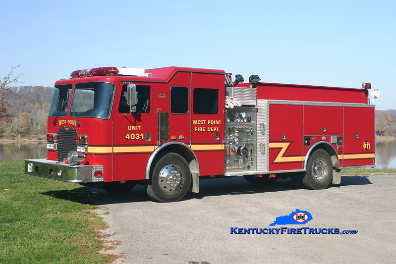 <center> West Point  Engine 4031 <br> 2003 KME Excel 1250/750 <br> Kent Parrish photo </center>