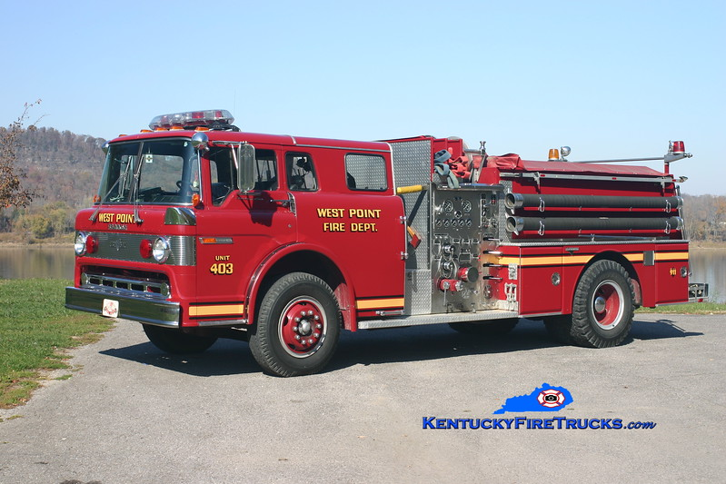 <center> West Point  Engine 4023 <br> 1984 Ford C-800/Grumman 1000/750 <br> Kent Parrish photo </center>