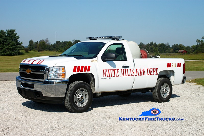 <center> White Mills  Brush 5070 <br> 2012 Chevy 2500 4x4/WMFD 125/120 <br> Kent Parrish photo </center>