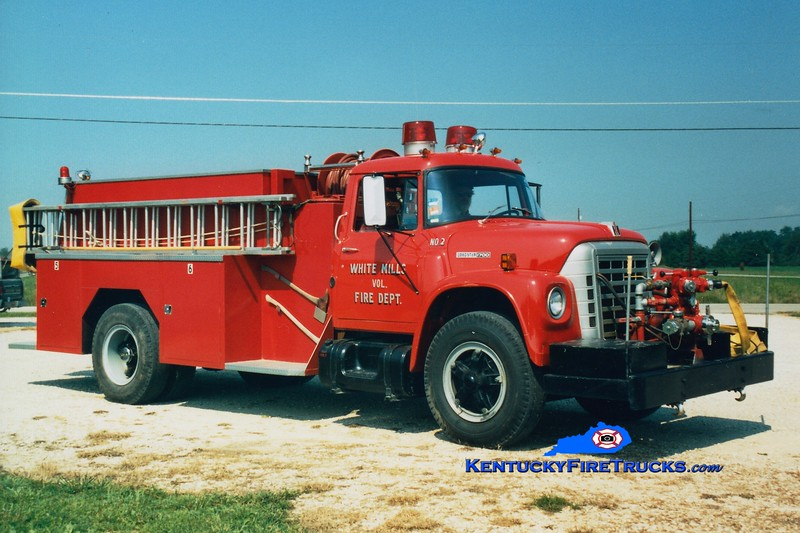 <center> RETIRED <BR> White Mills  Engine 2 <br> 1978 International Loadstar/Bluegrass 500/1300 <br> Greg Stapleton photo </center>
