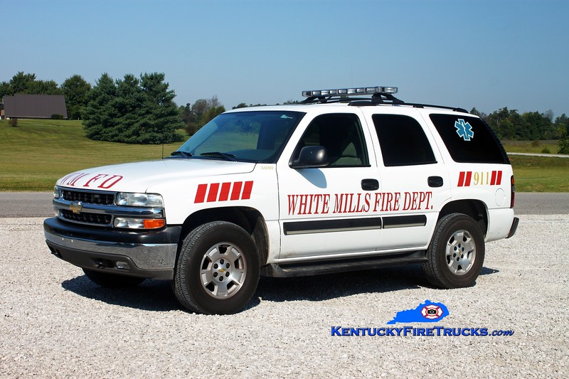 <center> White Mills  Squad 5080 <br> 2003 Chevy Tahoe 4x4 <br> Kent Parrish photo </center>