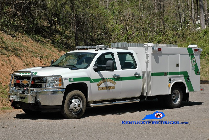 Harlan County Rescue Squad  Rescue 108<br /> 2011 Chevy 3500 4x4/Wynn<br /> Greg Stapleton photo